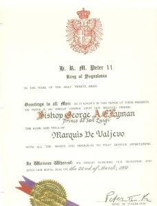 King Peter II to Edmond II