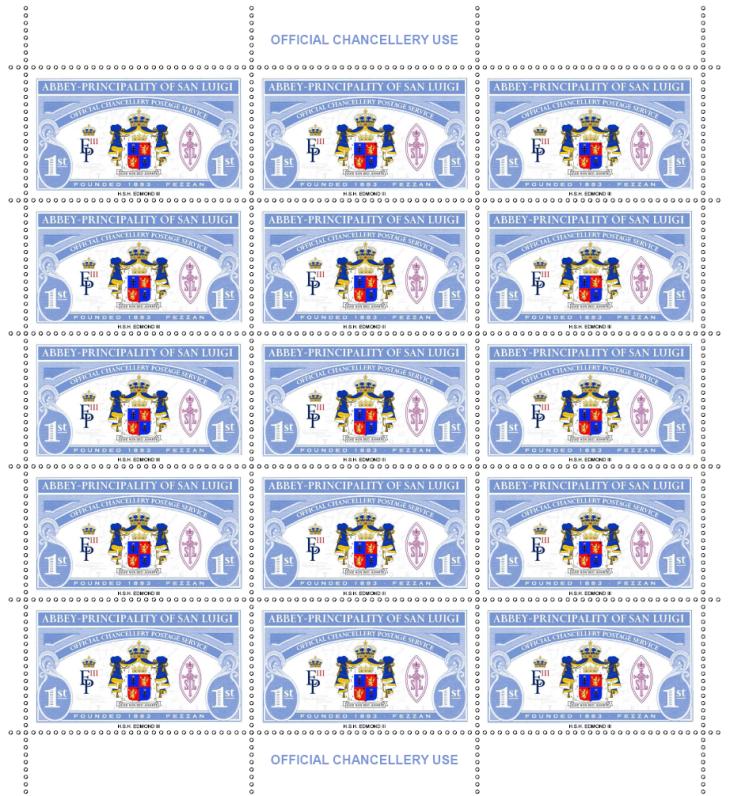 San Luigi first stamp issue