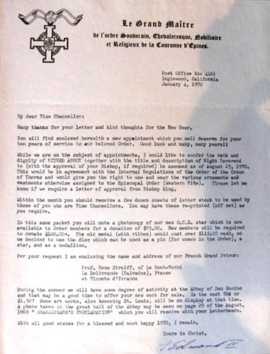 Edmond II letter