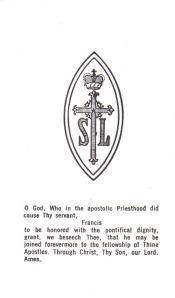 Edmond I prayer card