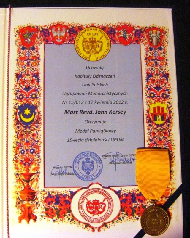 UPUM 15yrs medal