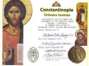 Constantinople Orthodox Institute HonDBysSt