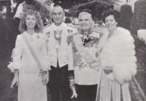 Prince Henri with Prince George King and their respective wives.