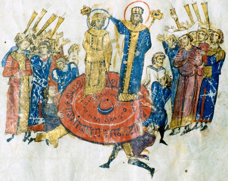 Michael I Rhangabe proclaims Leo V emperor