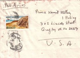 Handwritten envelope from H.H. Nicolaos VI to Prince Kermit of Miensk.