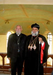 Archbishop Brennan with the Syrian Orthodox Patriarch of Antioch.